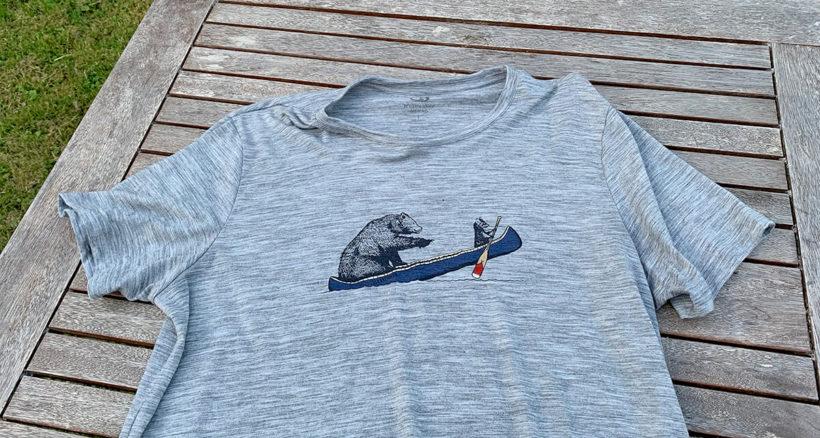 Mein Lieblings-T-Shirt aus Merinowolle (80%): Sehr leicht und super weich.