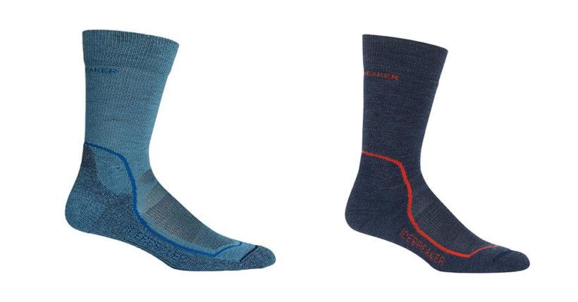 Die Icebreaker Mens Hike+ Light Crew Socken bestehen zum Großteil aus Merinowolle, was ihnen nicht nur gue feuchtigkeitsregulierende Eigenschaften beschert, sondern auch ein angenehmes Tragegefühl (Foto: Amazon).
